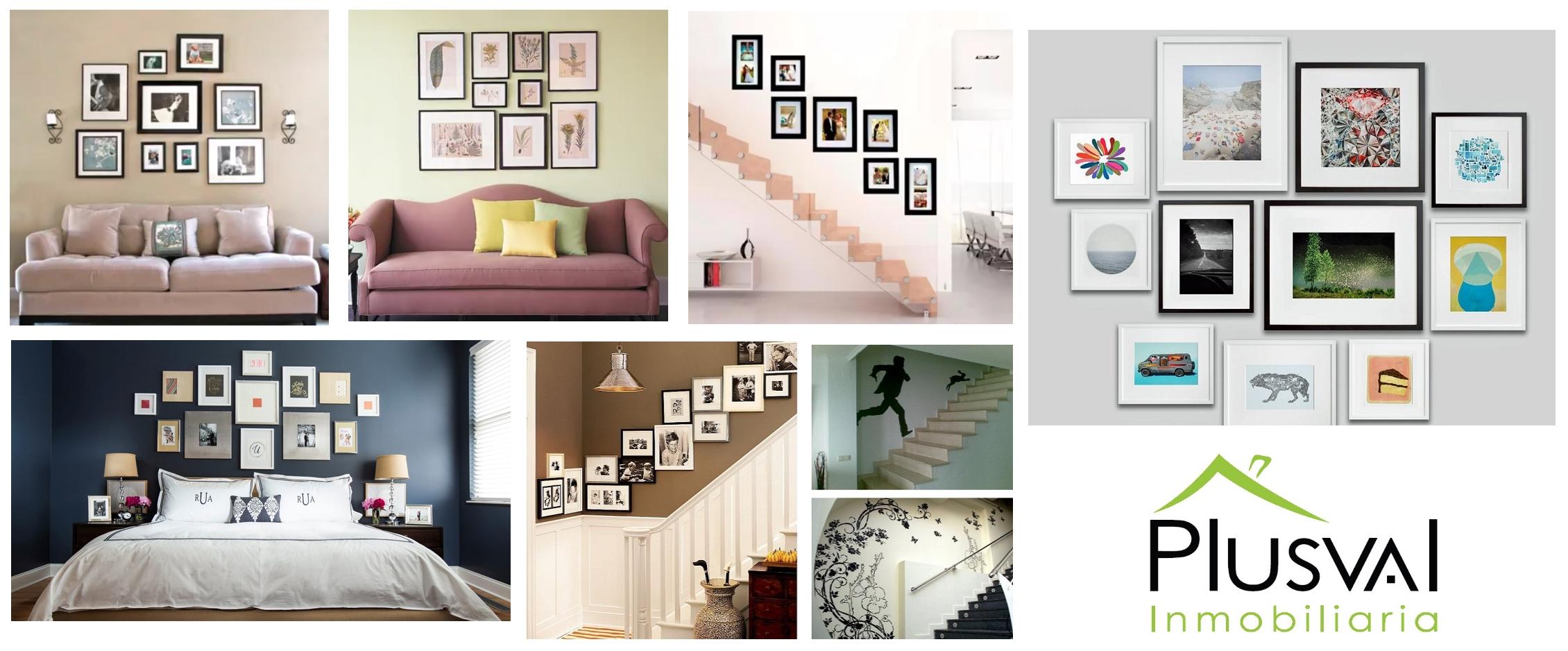 Decora con ingenio y maximiza los espacios de tus paredes