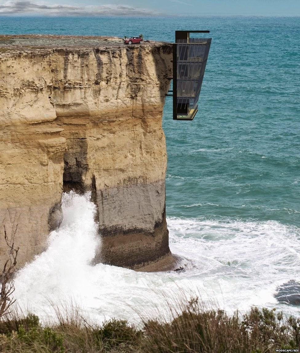 Te atreverías a vivir a orillas de un acantilado?