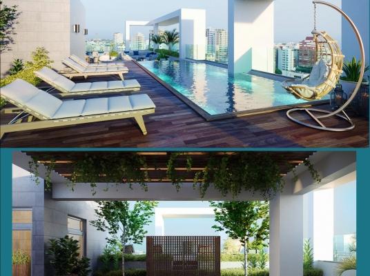Proyecto de Apartamentos En Piantini,  Construcción, con apartamentos de 1 y 2 habitaciones