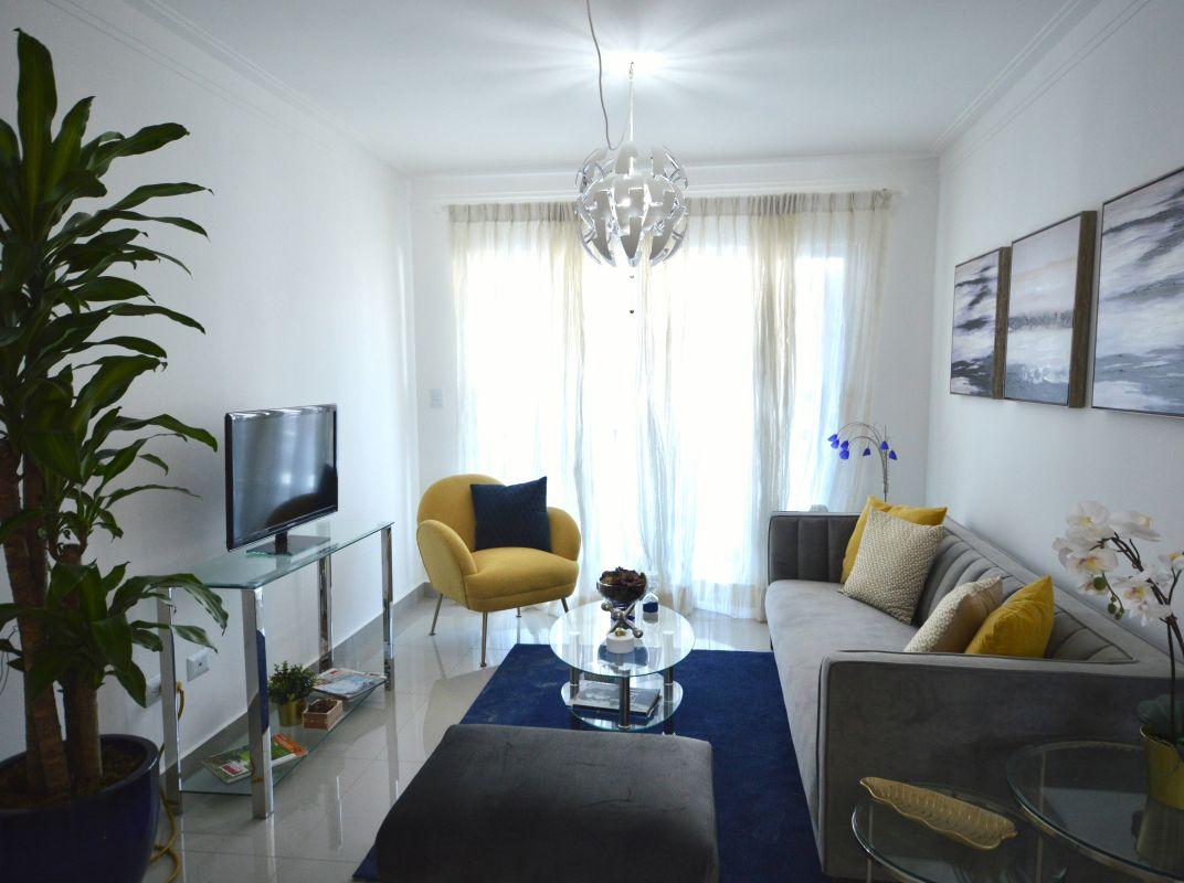 Apartamento en residencial cerrado en el Quisqueya, en alquiler