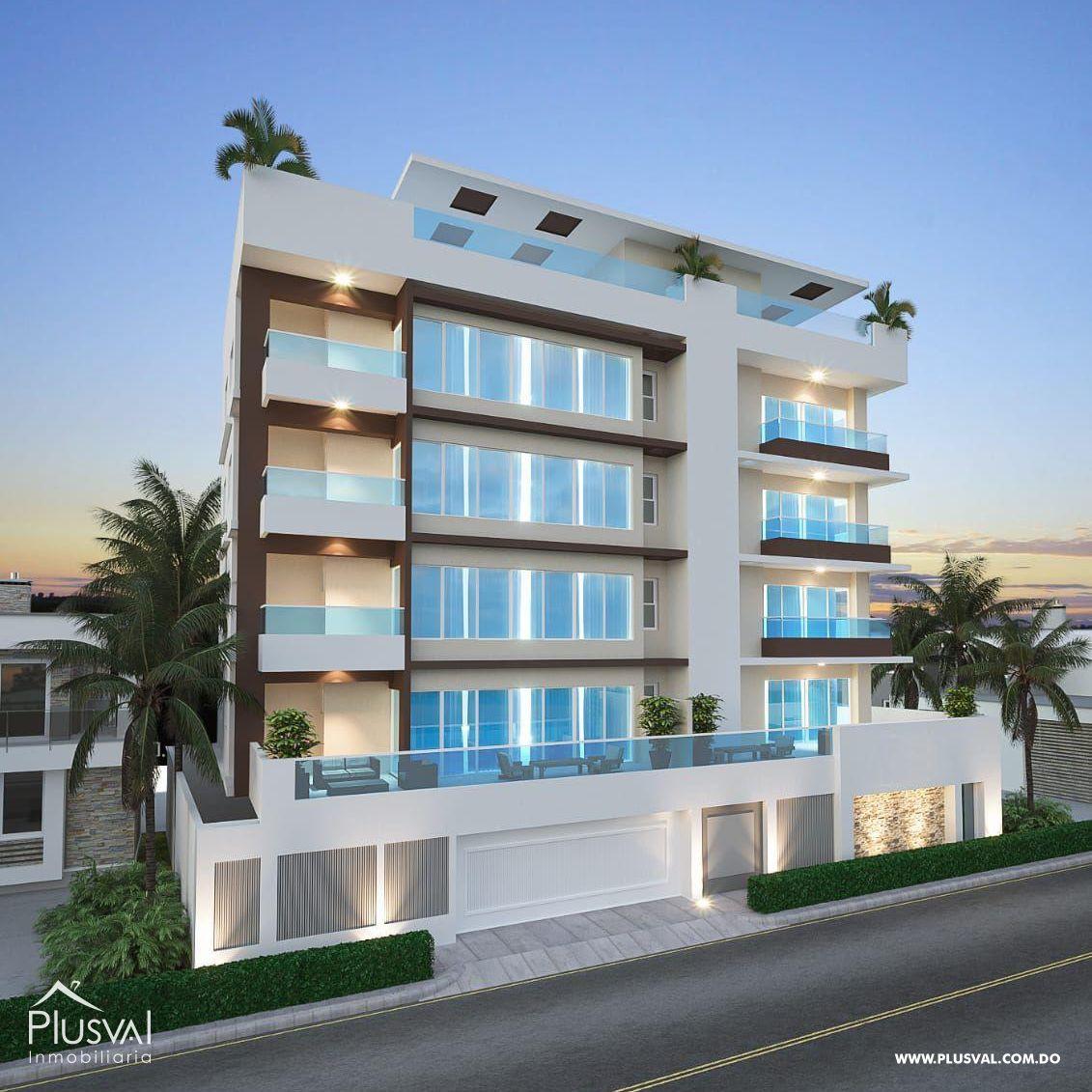 Apartamento en venta con terraza privada en el cacique