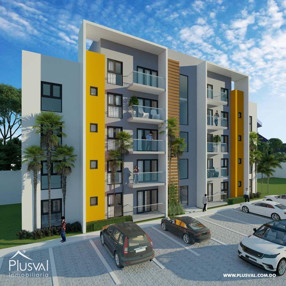 Apartamentos en planos en proyecto con piscina en El Dorado