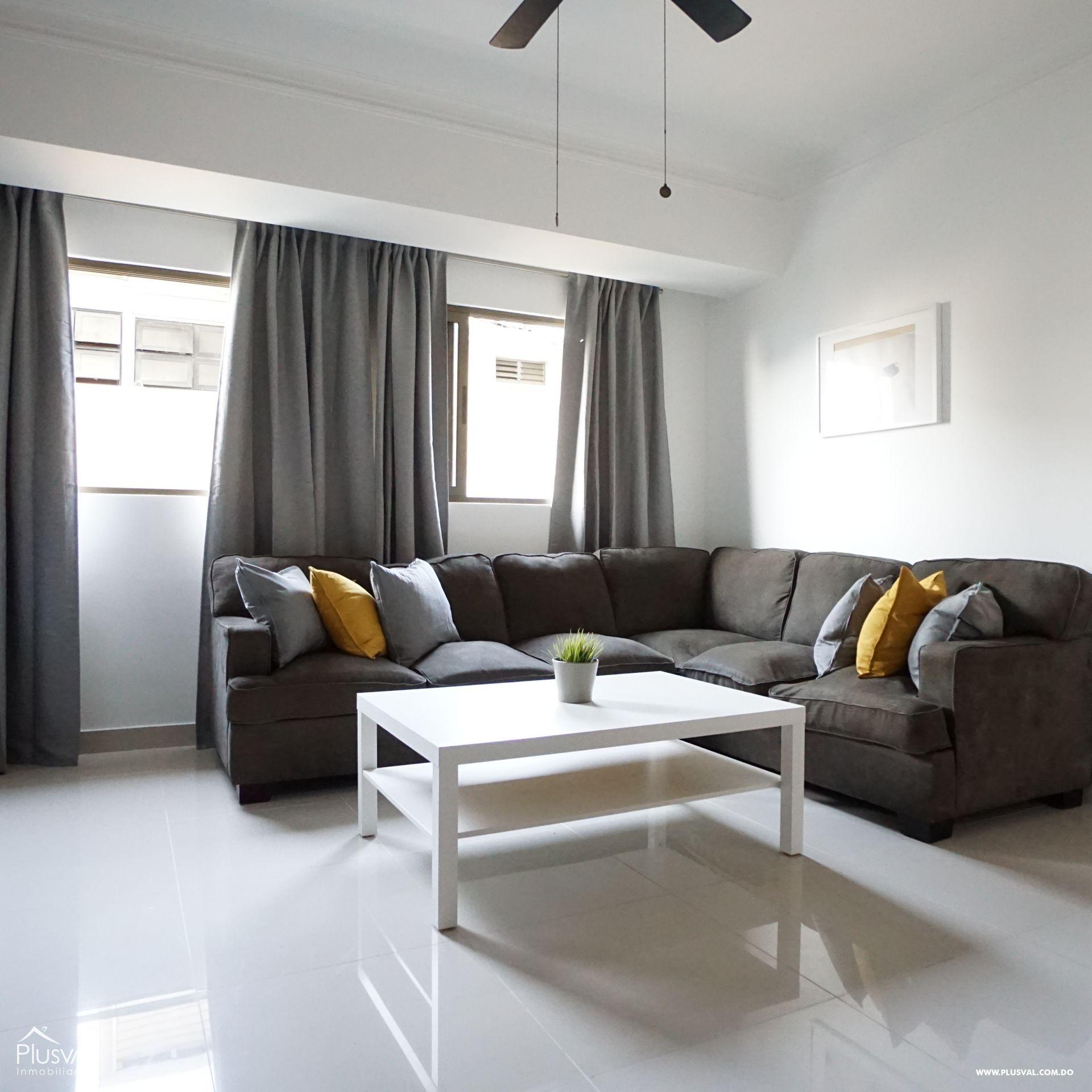 Alquilar apartamento amueblado de 1 habitación en Piantini
