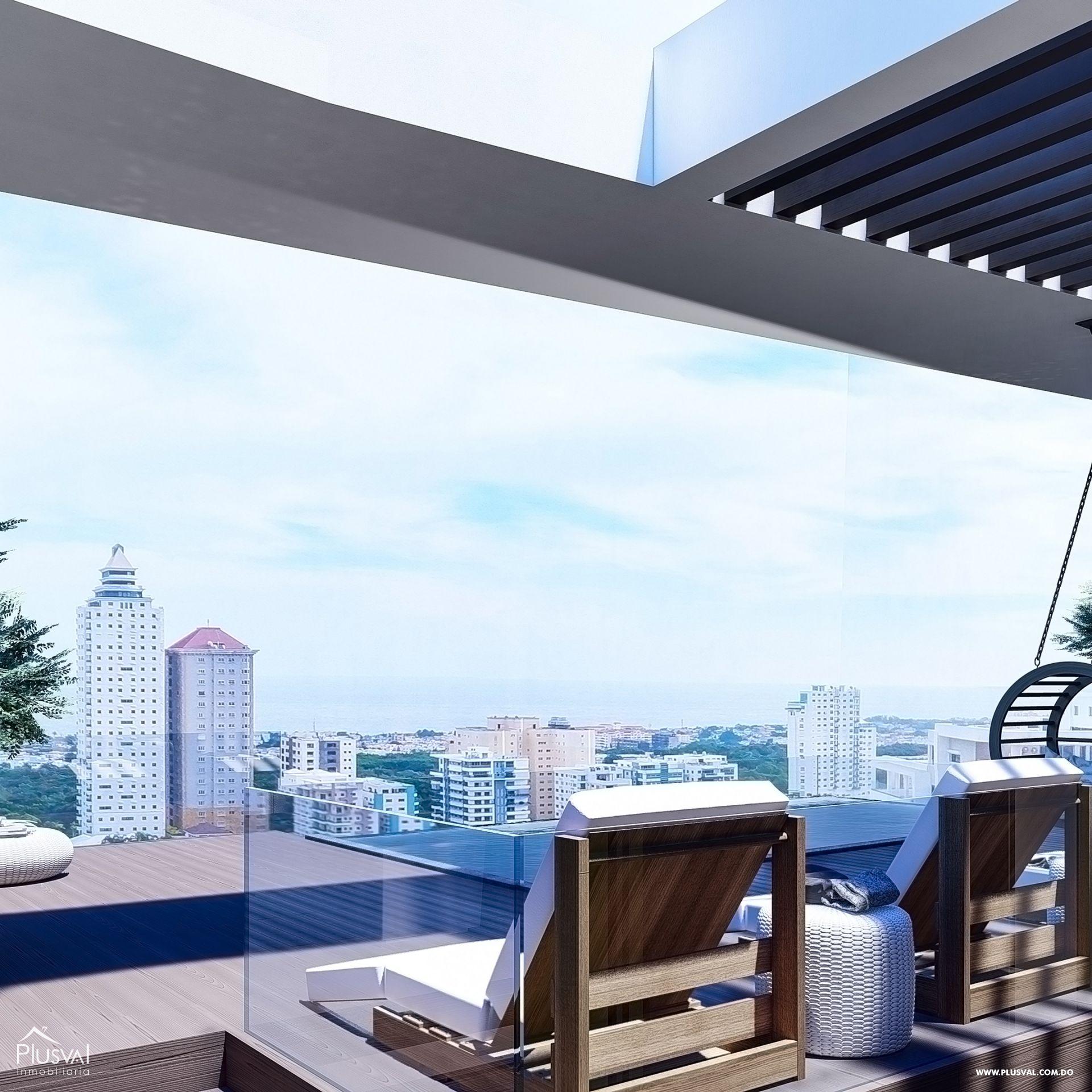 Imponente torre con apartamentos en venta uno por piso, Cacicazgos.