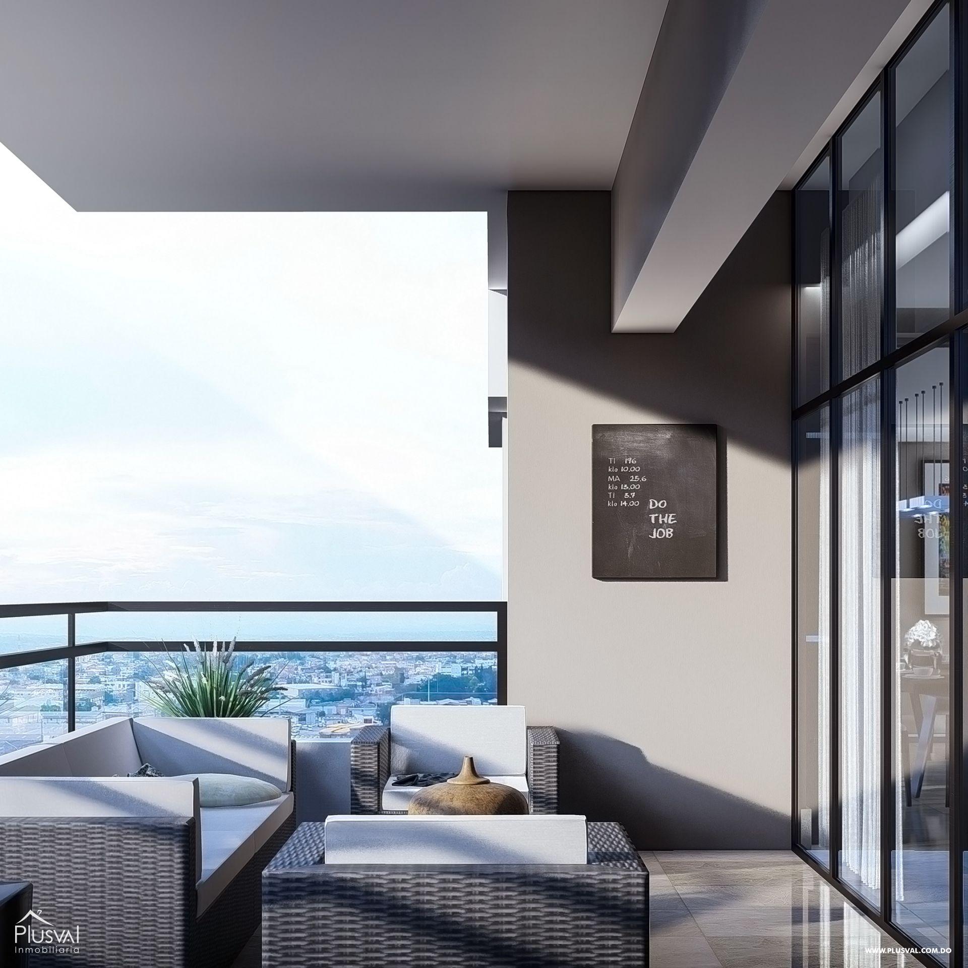 Imponente torre con apartamentos en venta uno por piso con vista al mar en Avenida Enriquillo, Cacicazgos. 144517