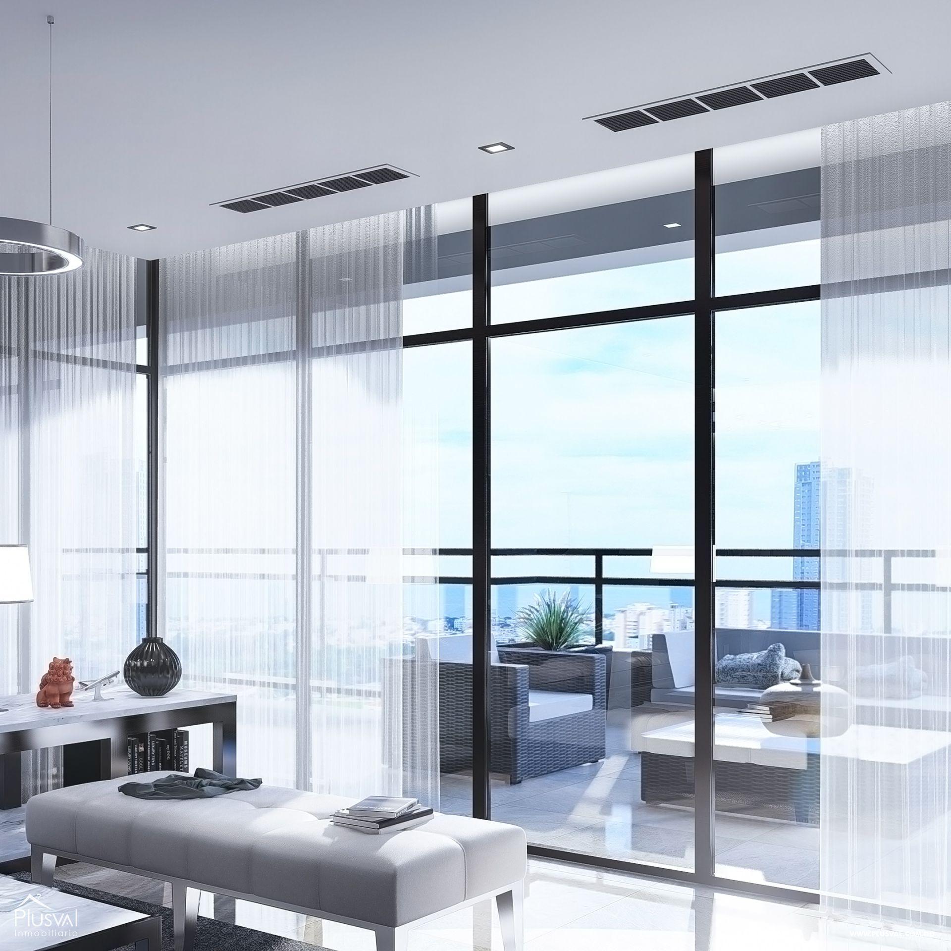 Imponente torre con apartamentos en venta uno por piso con vista al mar en Avenida Enriquillo, Cacicazgos. 144523