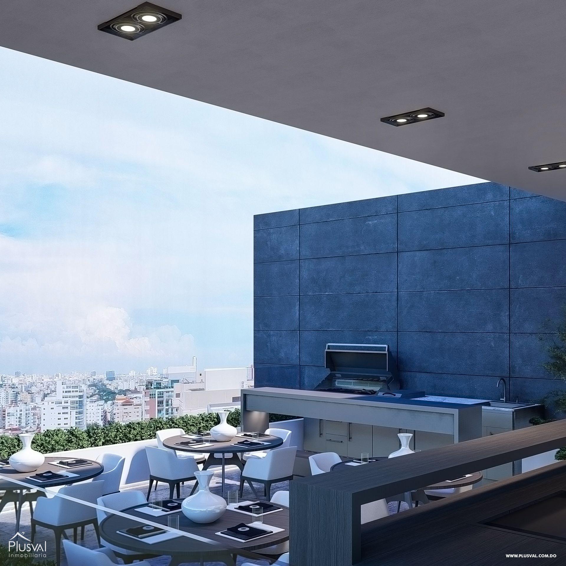 Imponente torre con apartamentos en venta uno por piso con vista al mar en Avenida Enriquillo, Cacicazgos. 144524