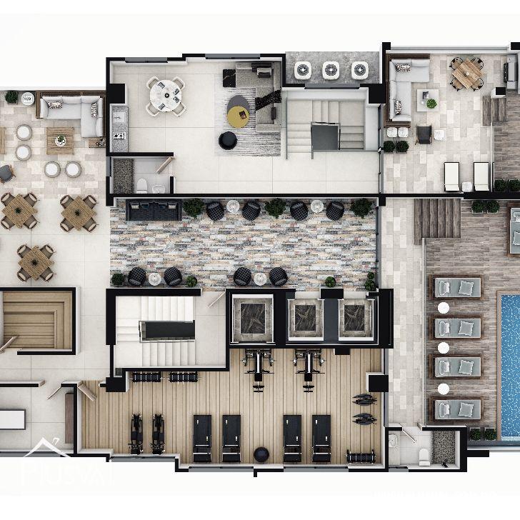 Imponente torre con apartamentos en venta uno por piso con vista al mar en Avenida Enriquillo, Cacicazgos. 144527