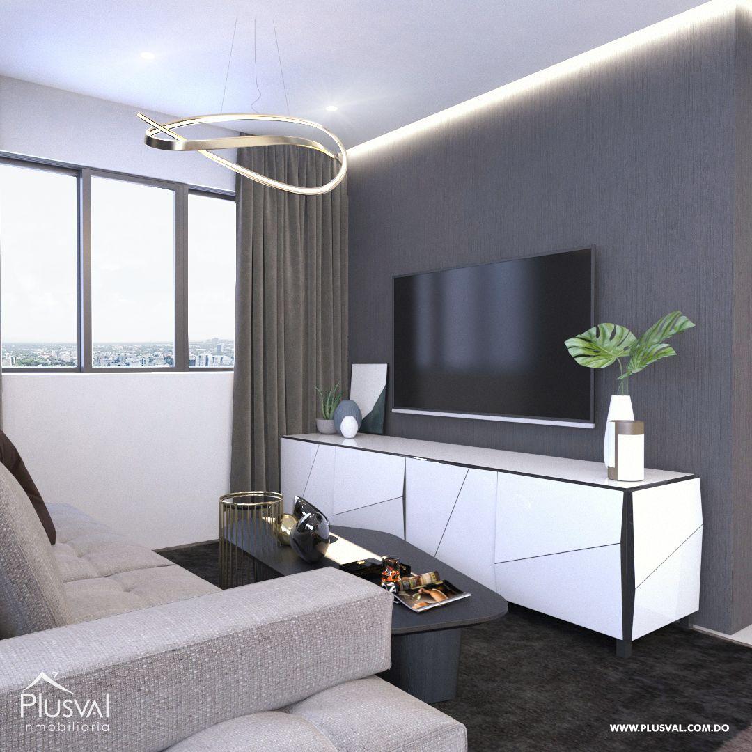 Apartamento en el primer nivel de 2 habitaciones, ubicado en La Esmeralda, Santiago 144680
