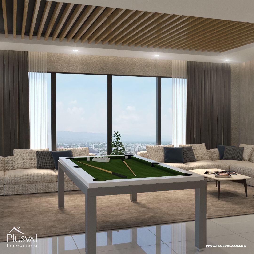 Apartamento en el primer nivel de 2 habitaciones, ubicado en La Esmeralda, Santiago 144681