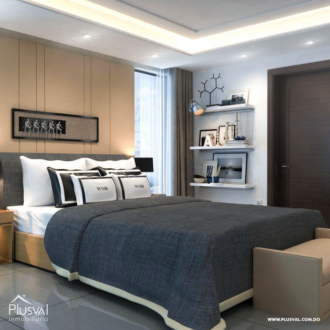 Apartamento en el primer nivel de 2 habitaciones, ubicado en La Esmeralda, Santiago 144683