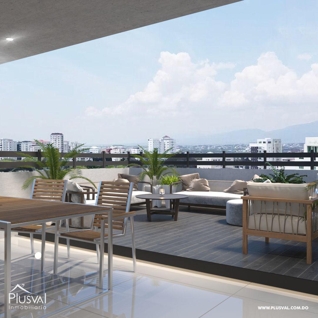 Apartamento en el primer nivel de 2 habitaciones, ubicado en La Esmeralda, Santiago 144685