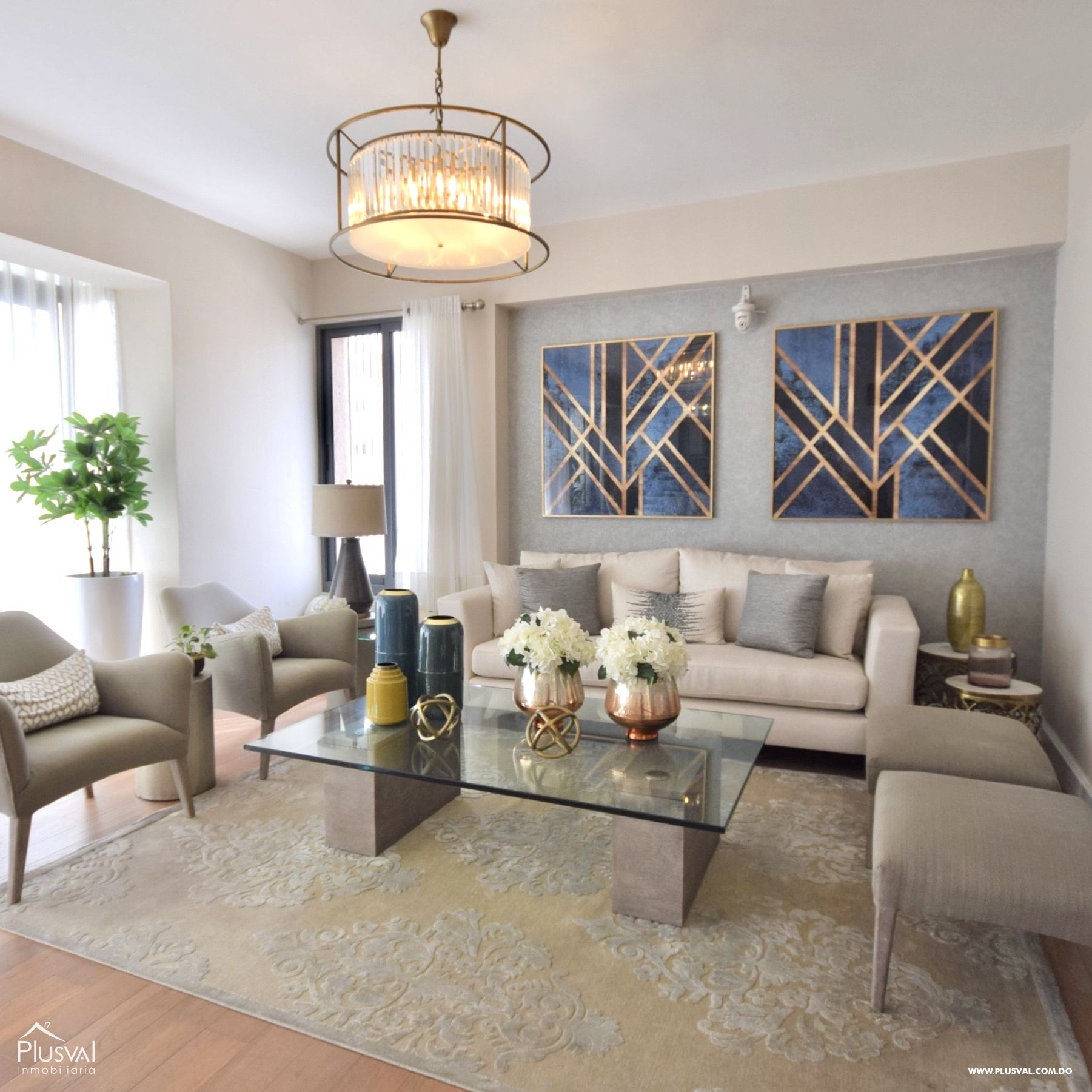 Amplio apartamento en alquiler amueblado en Evaristo Morales