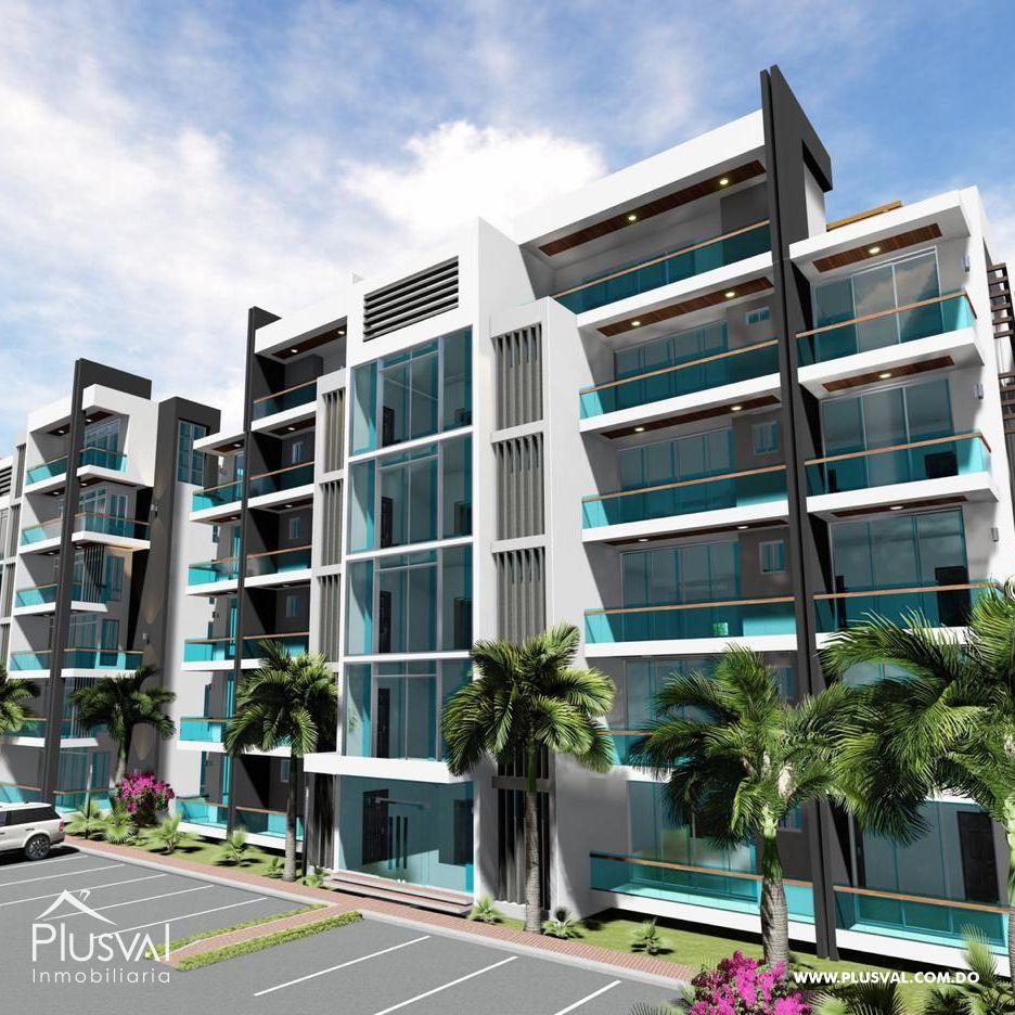 Apartamento en Cerro Hermoso con área social y piscina