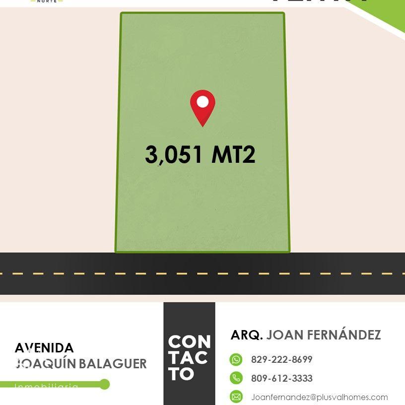 Exclusivo solar de venta en la Autopista Joaquin Balaguer