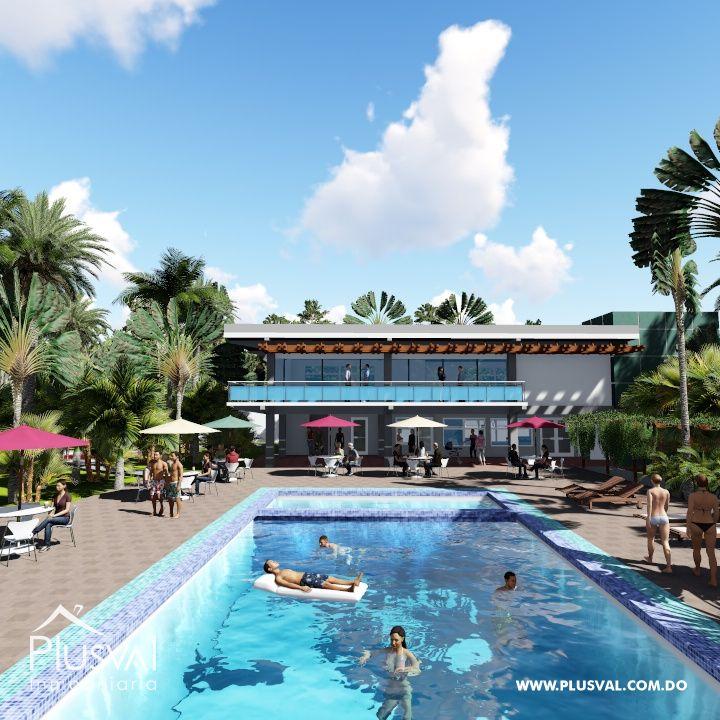 Apartamento en venta, con piscina y área social en Santiago