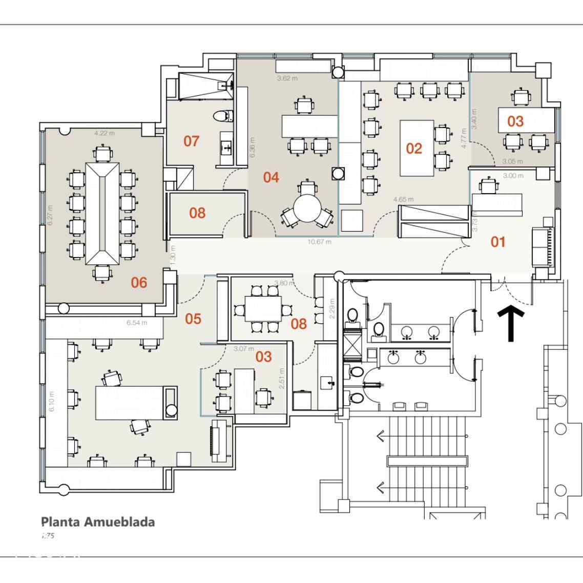 Moderna oficina amueblada en alquiler en Serralles 150392