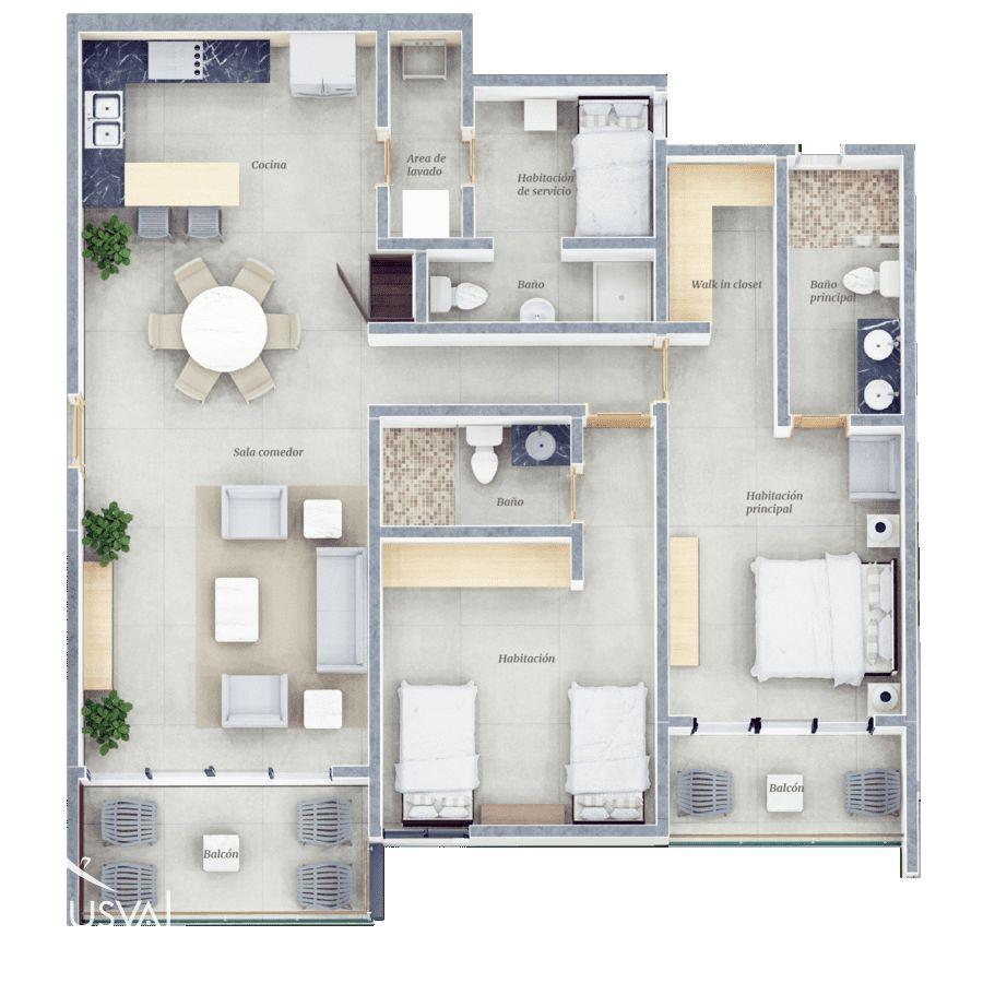 Venta de apartamentos 2 habitaciones, en Puntacana Village 150525