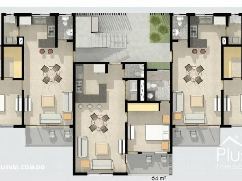Venta apartamento de 1 habitación 115230