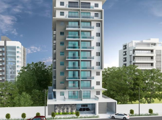 Moderna torre en el exclusivo sector de Piantini con apartamentos de 1 y 2 habitaciones