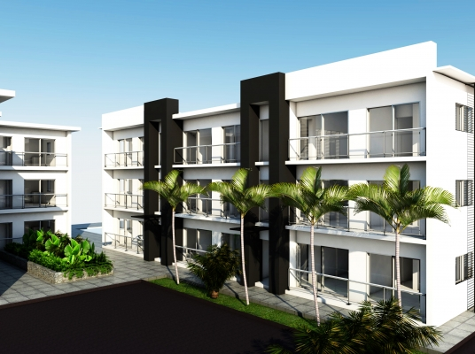 Moderno  complejo residencial.