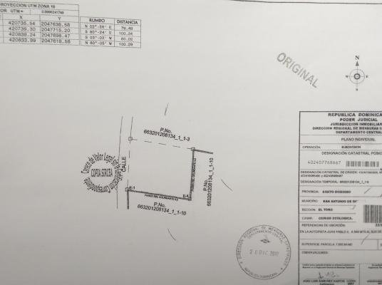 Solar en Venta, San Antonio de Guerra