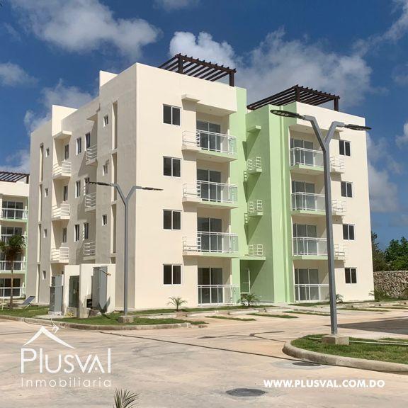 Apartamento de 2 habitaciones en Verón Punta Cana; proyecto cerrado