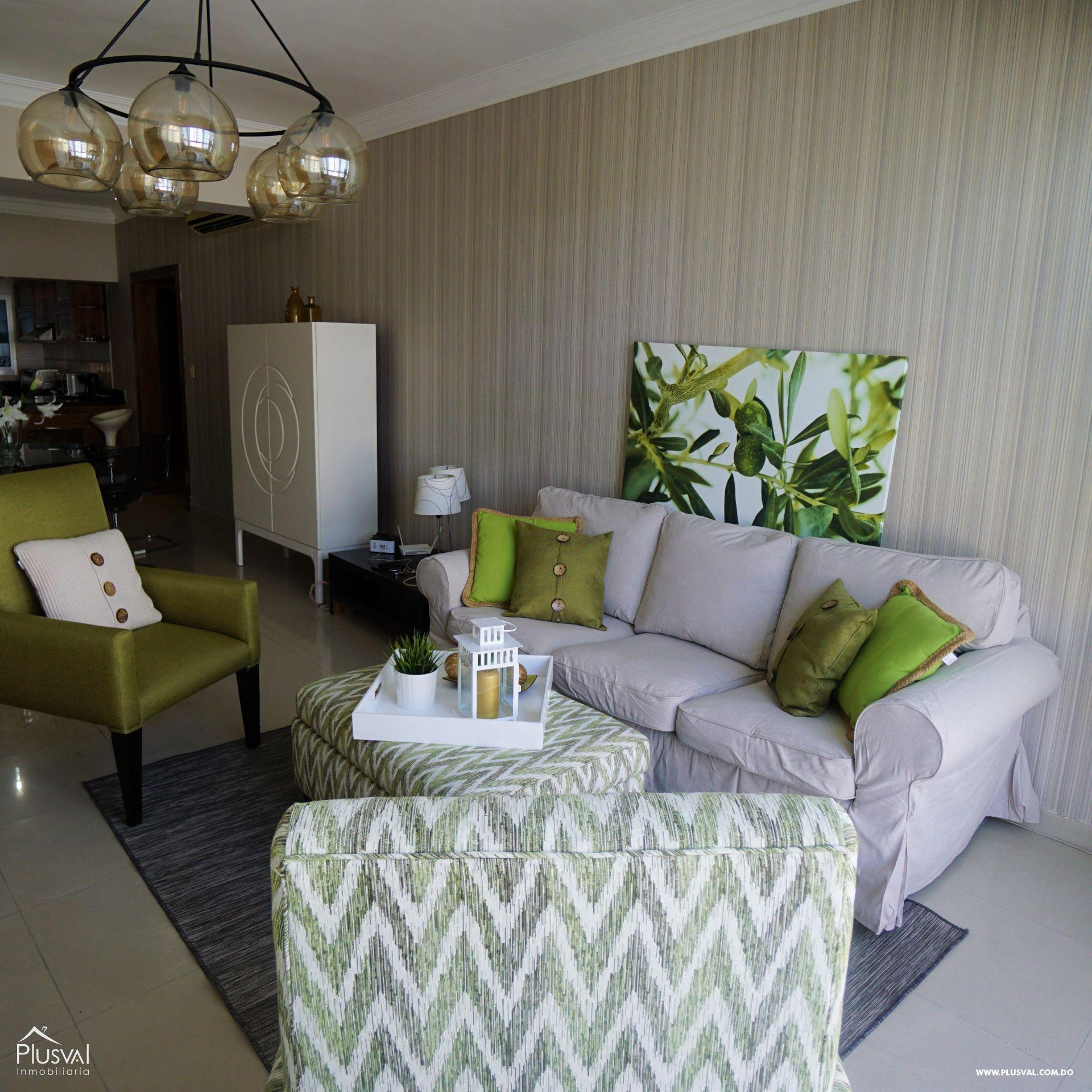Apartamento amueblado en alquiler en Piantini