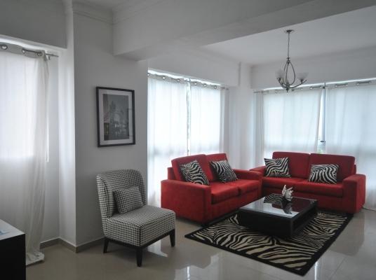 Apartamento amueblado en alquiler, Piantini