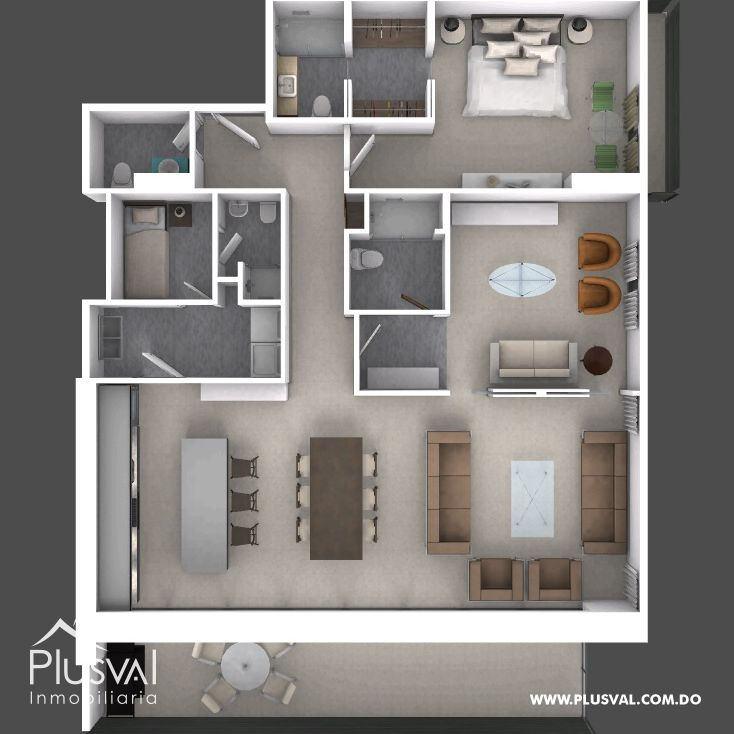 Apartamentos de Dos Habitaciones en Torre Retiro 5 Piantini 178351
