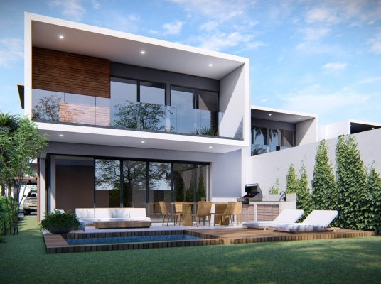 Moderno proyecto de 4 villas