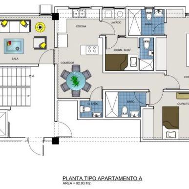 Proyecto de apartamentos de 1 y 2 Hab. con Ascensor en Renacimiento 165126
