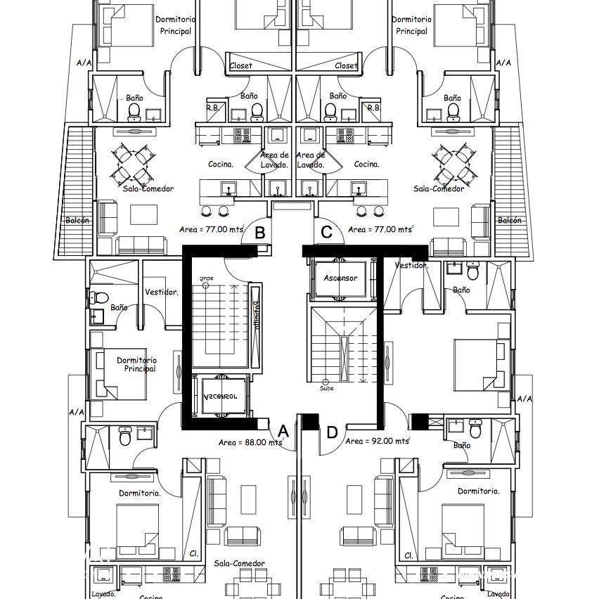 Apartamentos de 2 Habitaciones en Naco