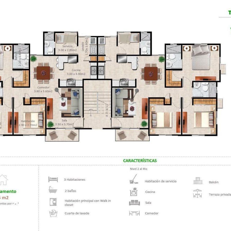 Apartamentos en la Jacobo Majluta con excelente área social 173627
