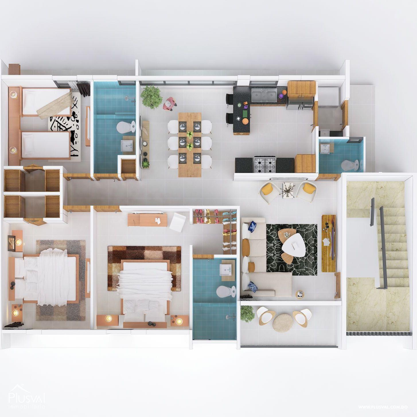 Apartamento de venta en Don Pedro con área social y piscina 178462