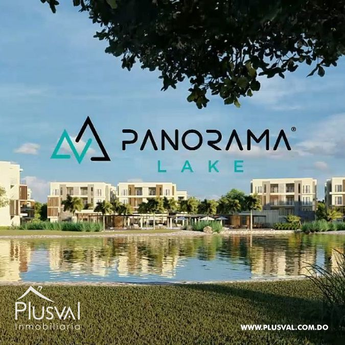 PANORAMA LAKE: Proyecto de apartamentos con playa artificial
