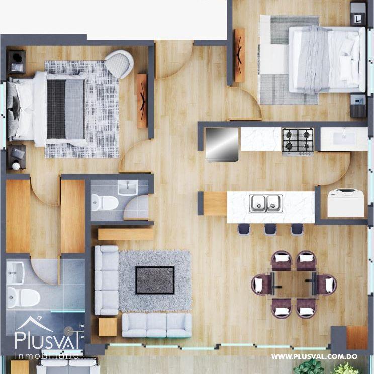 Proyecto Residencial con apartamentos de 2 y 3 habitaciones 158506