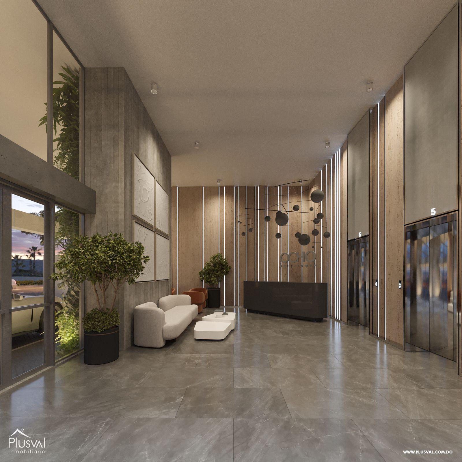 Moderno proyecto de apartamentos de 1 y 2 hab. en Naco 183194