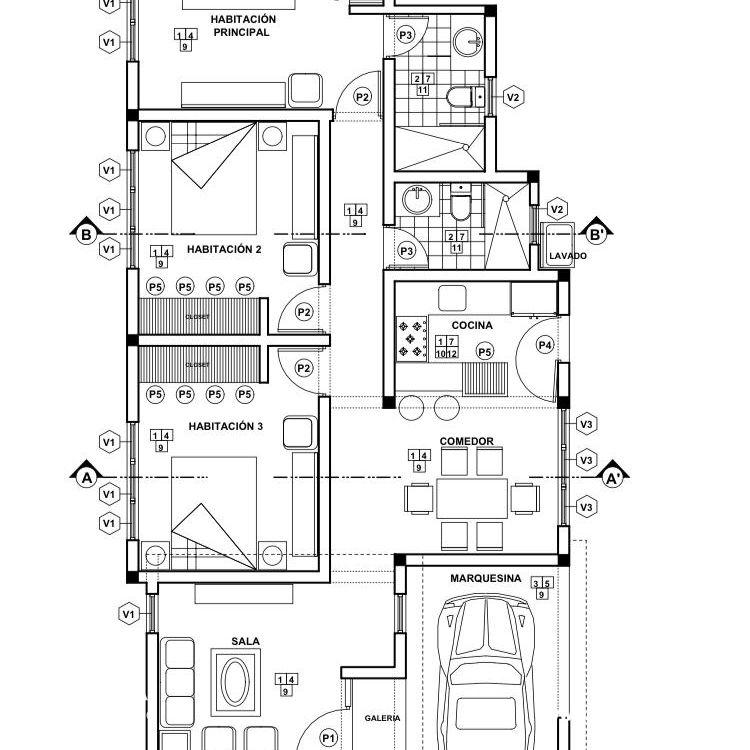 Casas estilo minimalistas, en Torre Alta Sur 181567
