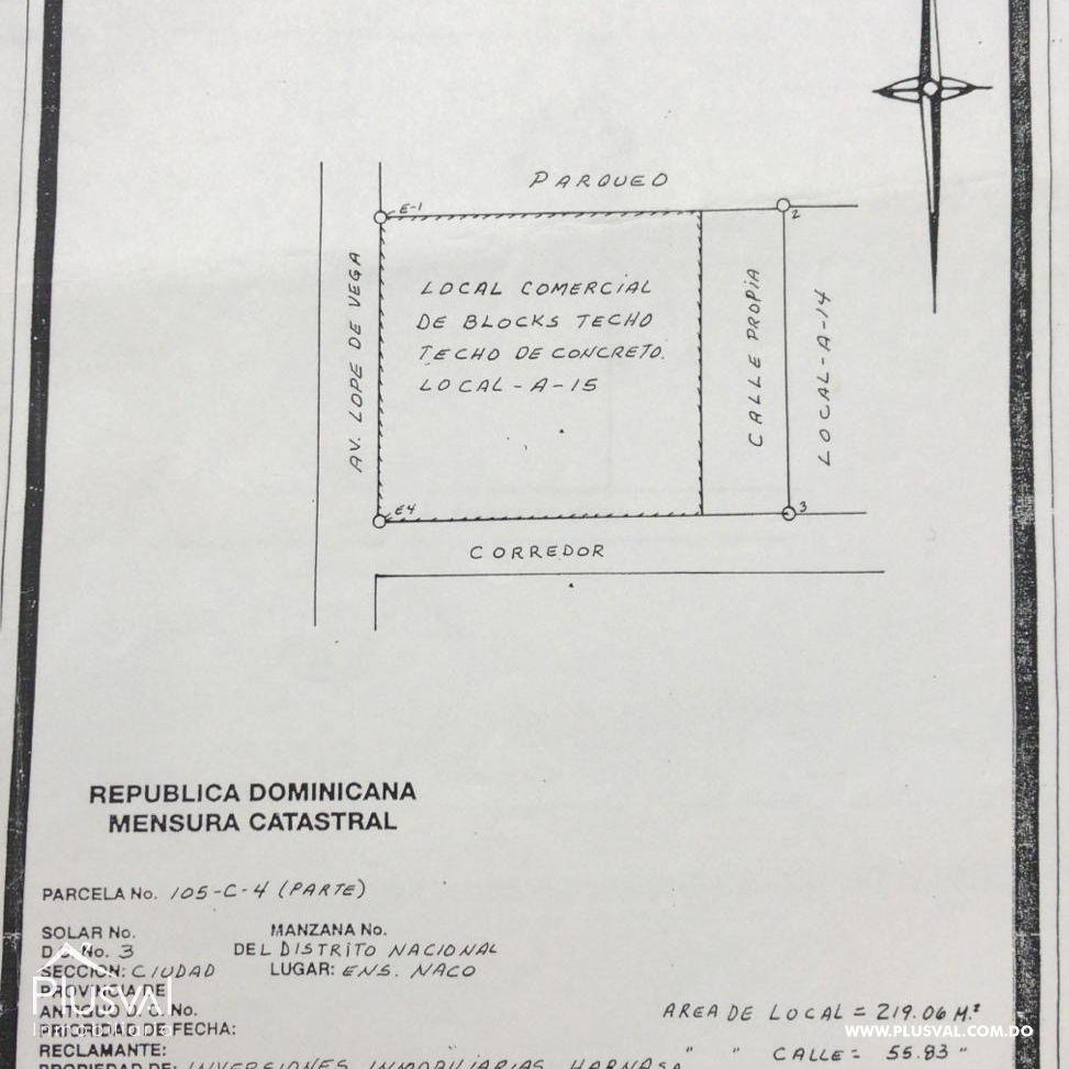 Local Comercial en venta, Naco 168680