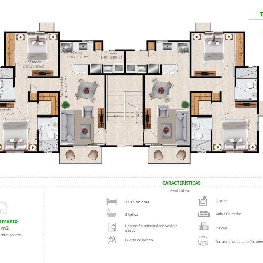 Apartamentos en la Jacobo Majluta con excelente área social 173633