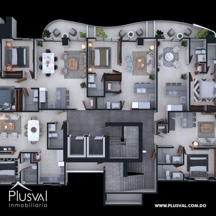 Apartamento de 1 Habitacion en Naco 178593
