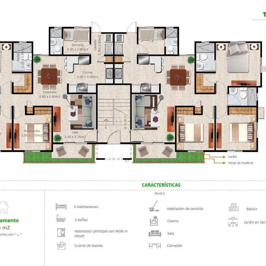 Apartamentos en la Jacobo Majluta con excelente área social 173626