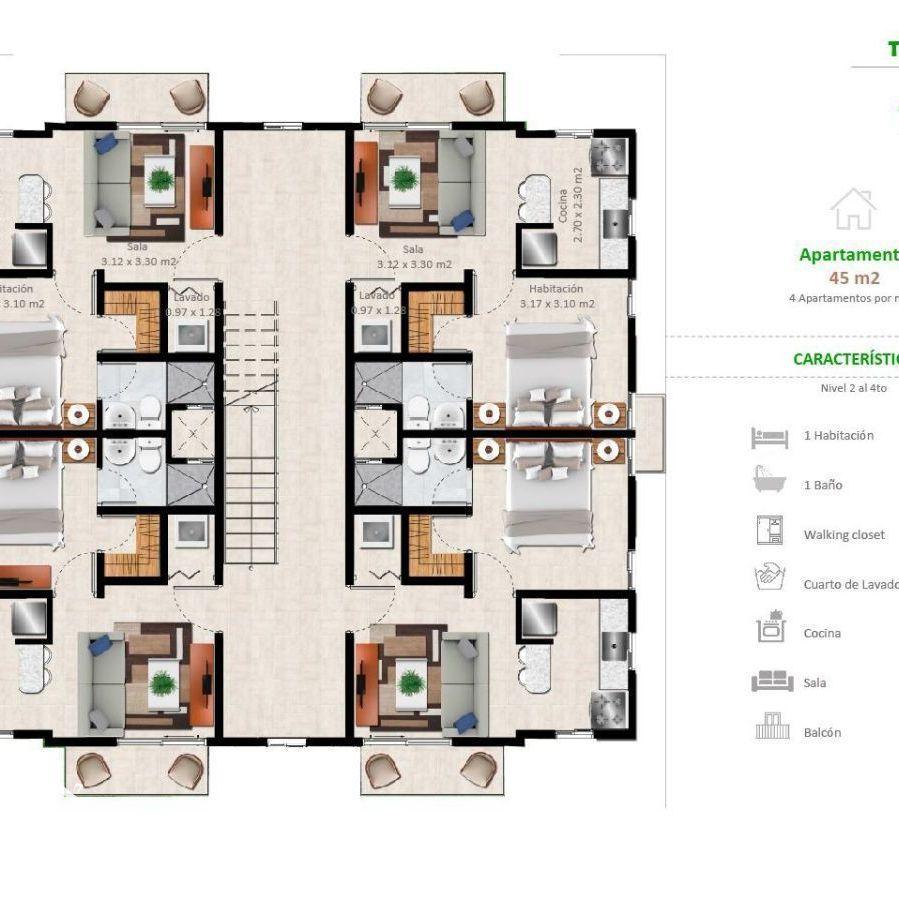 Apartamentos en la Jacobo Majluta con excelente área social 173636
