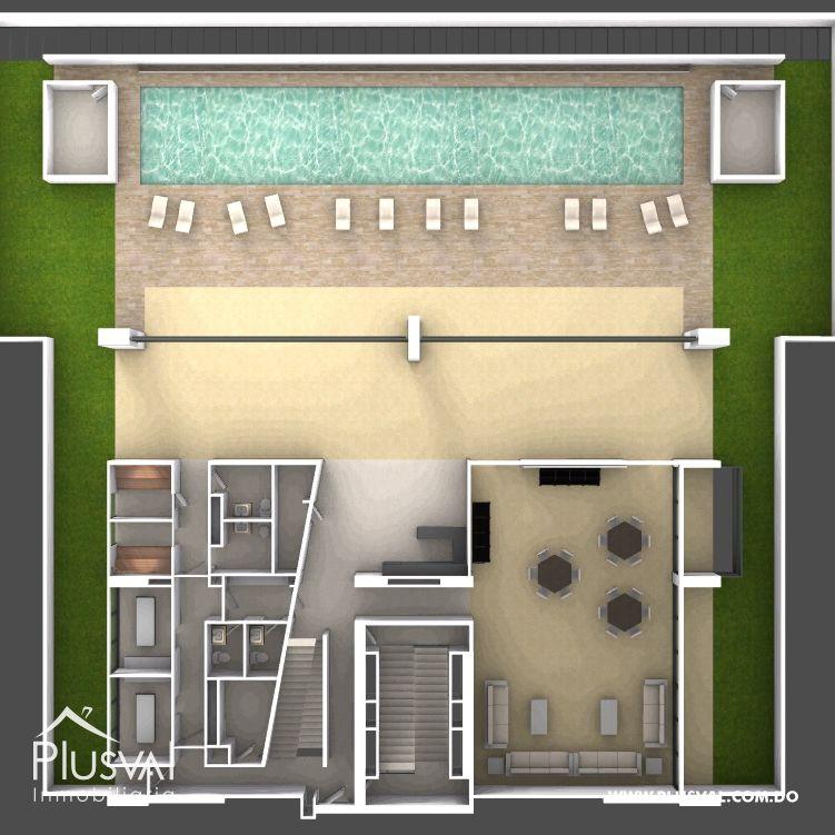 Apartamentos de Dos Habitaciones en Torre Retiro 5 Piantini 178352