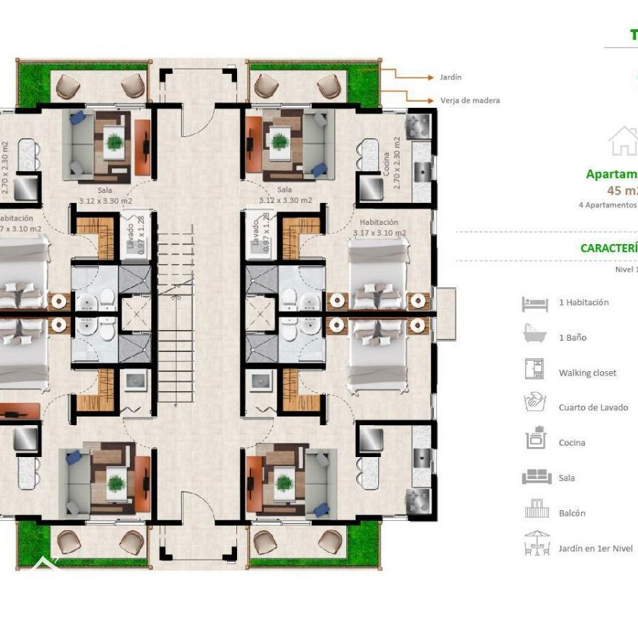 Apartamentos en la Jacobo Majluta con excelente área social 173635