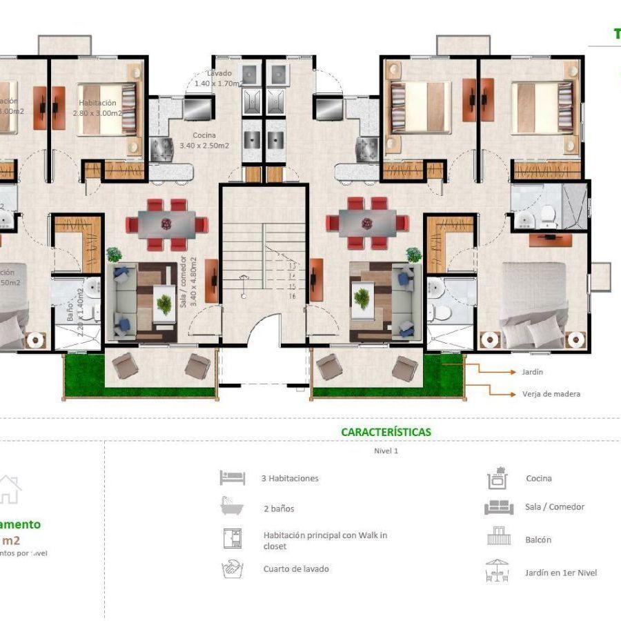 Apartamentos en la Jacobo Majluta con excelente área social 173629