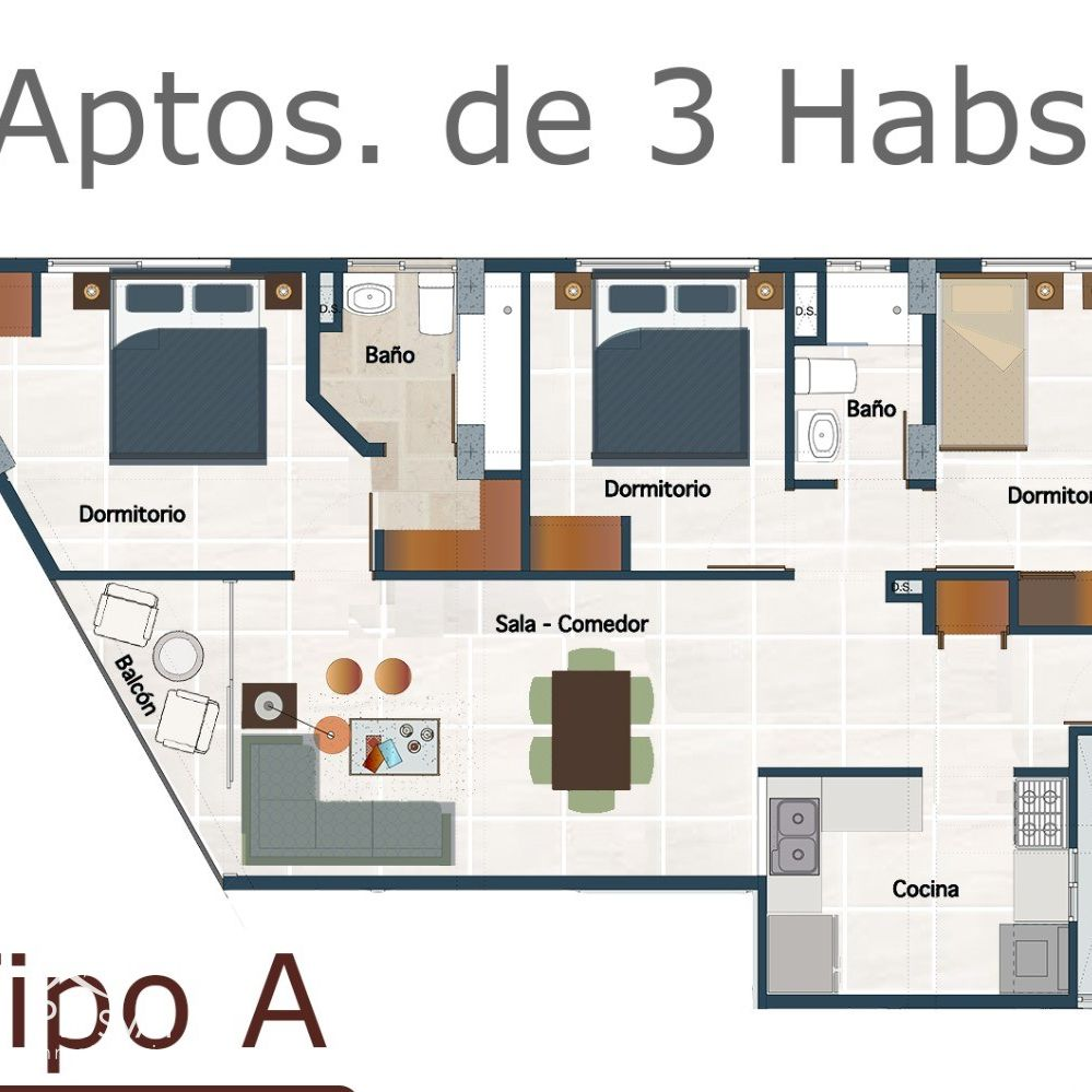 Céntrico y moderno proyecto de apartamentos en venta, La Julia 184420