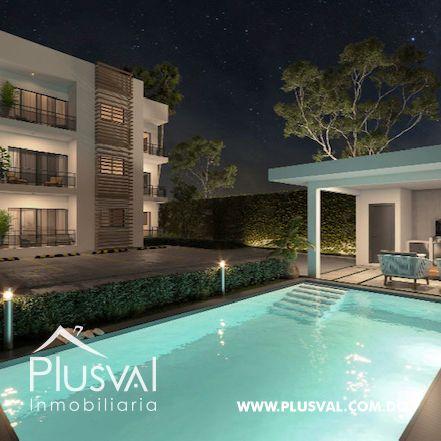 Apartamento de 2 habs en venta con Piscina, en Punta Cana 173014