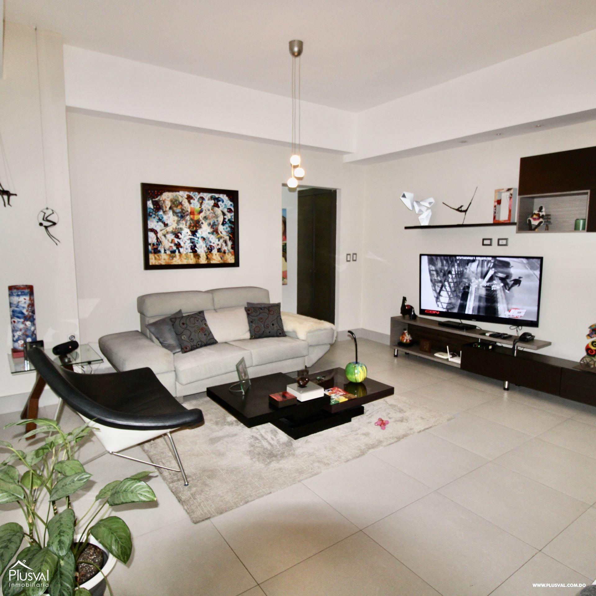Apartamento en torre de lujo en alquiler amueblado,en el exclusivo sector de Piantini